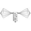 Schwarzbeck EFS 9219 - активный биконический пробник электрического поля